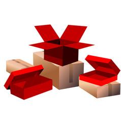 Set boxes vector