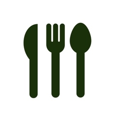 Silhouette set collection cutlery icon flat vector