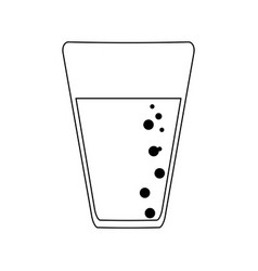 soda cup isolated black and white vector image