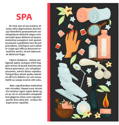Spa salon poster with equipment for beauty vector