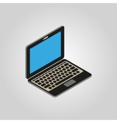 The computer icon PC desktop laptop symbol3D vector image