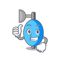 thumbs up ambu bag character cartoon vector image