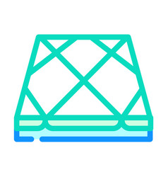 Tile layer floor color icon vector