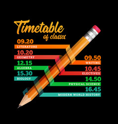 Timetable or timeline design template vector