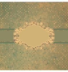 Vintage Frame Card vector image