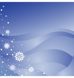 winter background with snowfla vector image