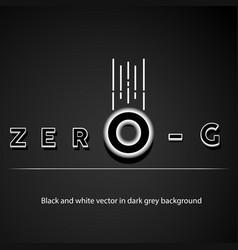 zero-g-1000 vector image