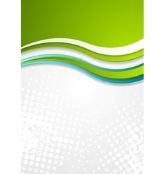 Abstract bright corporate wavy flyer design vector image vector image