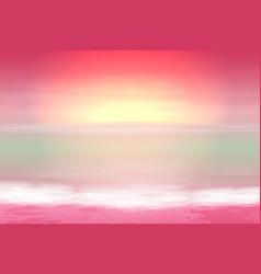 beautiful purple sea sunset vector image