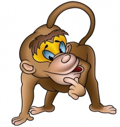 clever monkey vector image