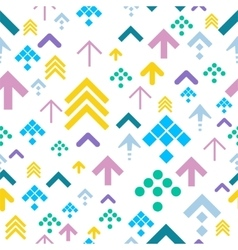 Colorful Arrow Background on White vector image