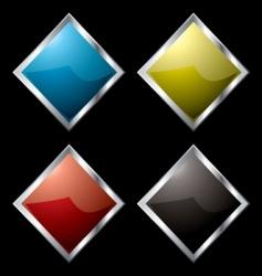 metal surround diamond vector image vector image
