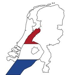 Dutch finger signal vector image vector image