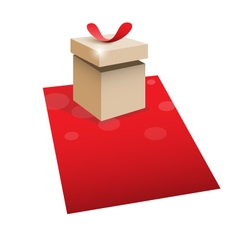 Gift box with space for text vector image vector image