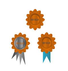 golden best seller icon vector image vector image