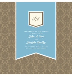 wedding invite vector image vector image