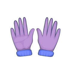 Winter gloves icon cartoon style vector image vector image