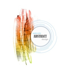 Abstract Watercolor Colorful Background Design vector image vector image