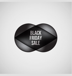black friday sale bubble badge vector image
