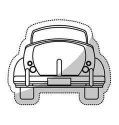 car vintage transport outline vector image vector image