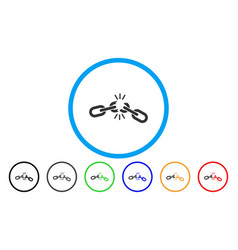 chain damage rounded icon vector image vector image