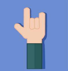 devil horns rock hand gesture graphic vector image
