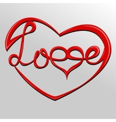 heart lettering Love vector image