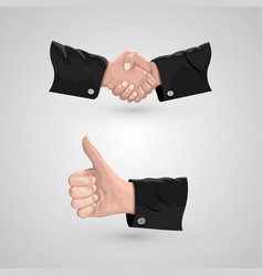 icon handshake and cool vector image vector image