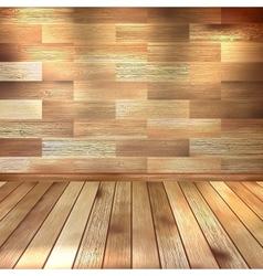 Vintage wooden room EPS 10 vector image vector image