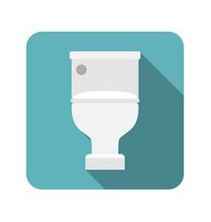 Closed toilet seat vector