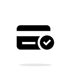Credit card access icon on white background vector image vector image