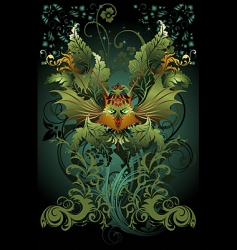 floral dragon vector image vector image