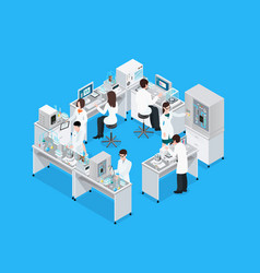 science lab workplace composition vector image vector image