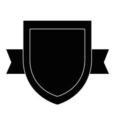 shield badge icon vector image vector image