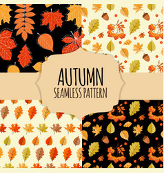 8 seamless pattern collection set background with vector image