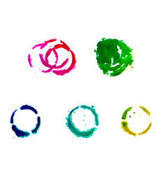 a set of gouache round spots vector image