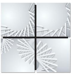 Abstract paper ribbons vector image