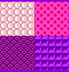 Abstract repeating pattern set - circle vector