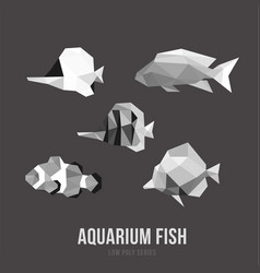 aquarium fish with triangle polygonal style vector image