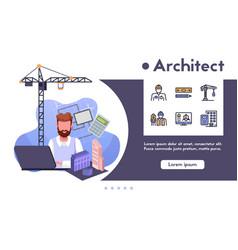 Architect profession flat vector
