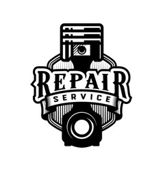 Auto repair service car logo emblem vector