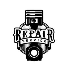 auto repair service car logo emblem vector image