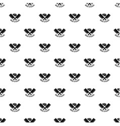 beef bbq steaks pattern seamless vector image