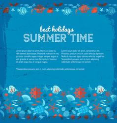 best holidays in summer time underwater background vector image