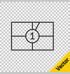 Black line old film movie countdown frame icon vector