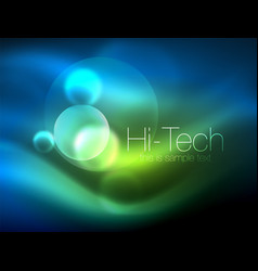 blurred neon glowing circle hi-tech modern bubble vector image