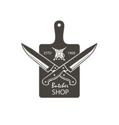 Butcher shop emblem vector