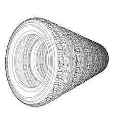 Car tires concept rendering of 3d vector