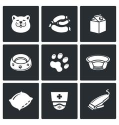Cat icon set vector