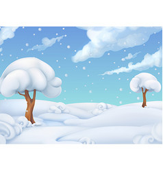 Christmas background Winter landscape 3d vector image